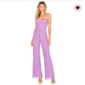 Lace X Naven Allie Jumpsuit from revolve in Lilac